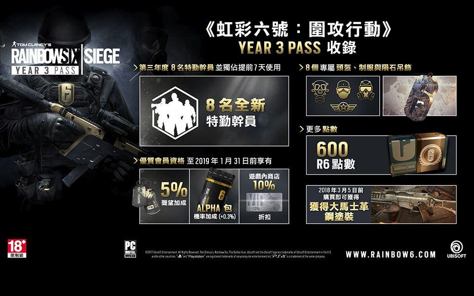 Picture of 虹彩六號 : 圍攻行動 第三年度 Season Pass ( 數碼版 )